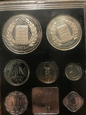 1973 Republic of India Proof Coins Set sealed (damaged case)