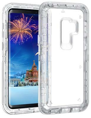 Shockproof Hybrid Galaxy Note 9 8 S9 Plus Transparent Clear Defender Cover Case