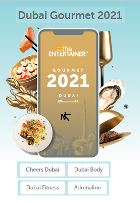 Entertainer Dubai 20 with Fine Dining,SPA,Cheers & Hotels 7 day Rental BRAND NEW