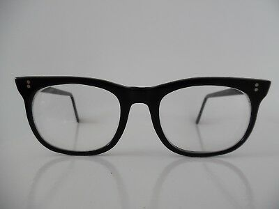 Vintage Major Black Geek Style Oval Eye Glasses Frame England