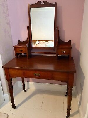 Beautiful Edwardian /Victorian Mahogany Antique Dressing Table / Desk / Console