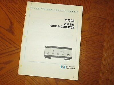 HP/Agilent 11720-90007 Operating and Service Manual for 11720A