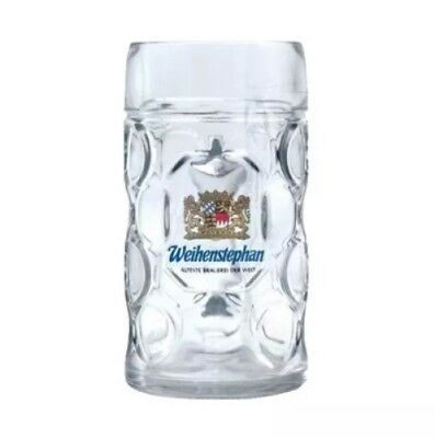 Weihenstephan German Dimpled Beer Stein Huge  1 Liter  Mug (33.8 oz)