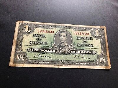 canada currency 1 dollar d1033
