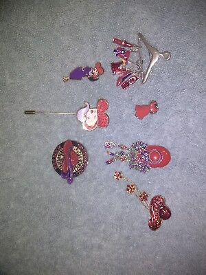 red hat society pins in excellent condition lot four
