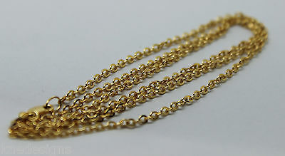 KAEDESIGNS NEW 9CT YELLOW GOLD BELCHER CHAIN NECKLACE 70cm 3.9grams