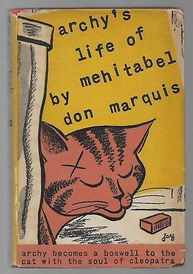 Archy's Life Of Mehitabel Don Marquis Vintage Cat Book Story 1955