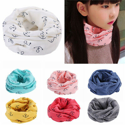 Boys Girls Toddler Kids Baby Cotton Neck Warmer Round Scarf Wrap Cute Multicolor