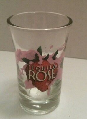 Tequila Rose Tall Shot Glass Shooter - Strawberries & Pink Cream Print