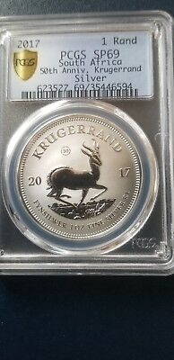 2017 Silver 69 PCGS 50 th Anniversary Krugerrand Special limited mintage rare