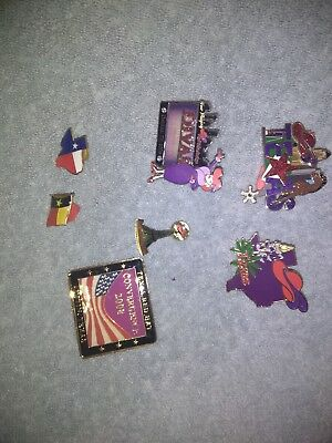 red hat society pins excellent condition lot 8