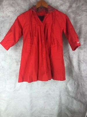 Vintage London Fog Girl's Size 6X Red Hooded Coat