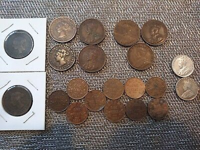 Old Canadian Coin Lot, Pennies and Nickels, some almost uncirculated!