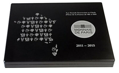 France From Clovis to Republic (2011–15) All 15 Silver Coins Display Box & COAs
