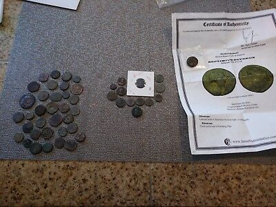 Lot of Almost 50 Ancient Roman and Eastern Coins, Many with Great Details!