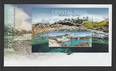 Norfolk Island 2018 : Crystal Pool - First Day Cover with Minisheet.