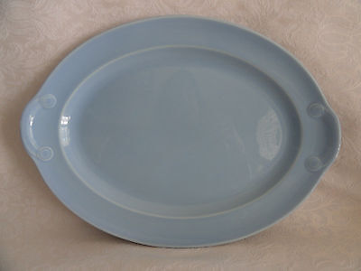 "LuRay TS&T - Large Oval Serving Platter  -  13 1/2""  X  9 1/2""  - Windsor Blue"