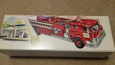 Great 1970 Hess Toy Fire Engine Truck in Original Box w/ Inserts & Battery Card
