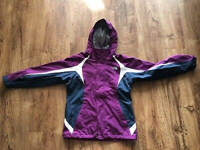 Girls The North Face Hyvent Lightweight Jacket Purple Size Large 14/16