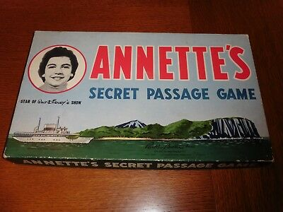 Old 1958 Walt Disney Annette's Secret Passage Board Game Parker Brothers