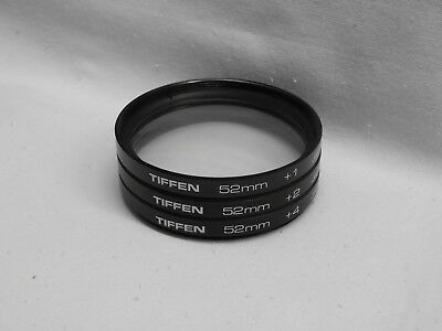 TIFFEN 52mm Close-up Macro Lens Set  +1  +2  +4