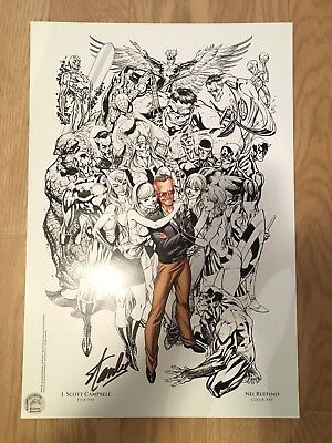 Stan lee signed lithograph sdcc j scott campbell
