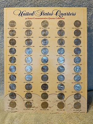 US Commemorative 50 United States Quarter Dollar Collection Great Condition