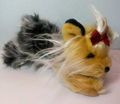"""With Tags! Animal Alley 10"""" Yorkshire Terrier Stuffed Plush Dog Toys R Us Yorkie"""