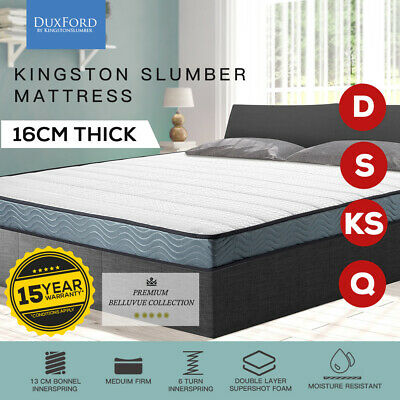 Queen Double King Single Bed Size Mattress Bonnell Spring Medium Firm Top Foam