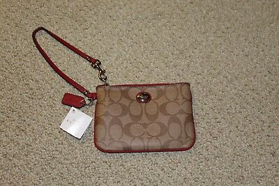 Peyton Signature Small Wristlet Coach