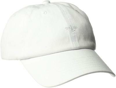 NEW Dockers Men's Unisex Classic Baseball Dad Hat with Logo, White, One Size