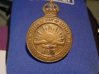 WW1 AIF Return from Active Service Military Badge