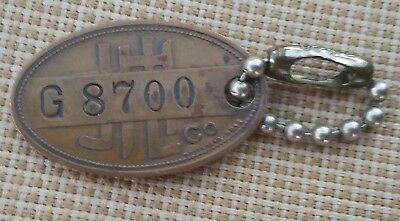 Vintage The J.L.Hudson Co Detroit Employee ID Badge / Key Chain Whitehead - Hoag