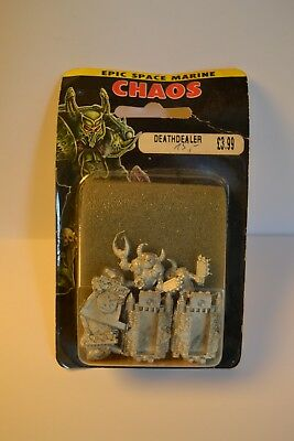 WH40K Warhammer Epic 40.000 2x Chaos Space Marine Deathdealer Metal in Blister