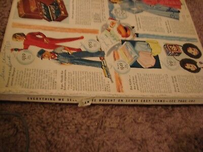 1950 sears catalog 360 pages color & b/w missing cover otherwise g-vg cond