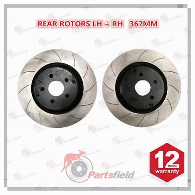 Pair x Slotted Rear Disc Rotor fits HSV Clubsport Grange Maloo Senator VF 367mm