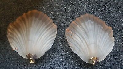 Mariner art nouveau glass wall lights