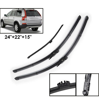 VOLVO XC90 2002-2004 standard front windscreen WIPER BLADES 24/'/'22/'/' 600//560mm
