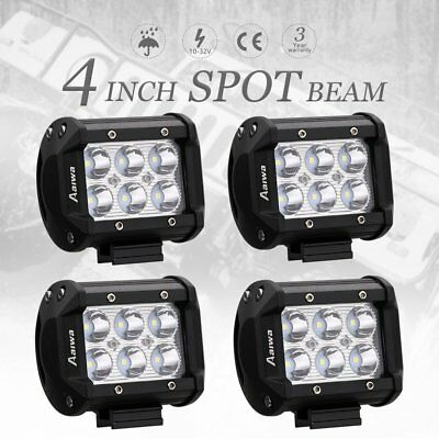4x 4inch CREE LED Light Bar SPOT Beam Offroad Work Driving Fog Reverse Lamp