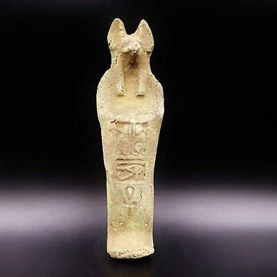 LARGE Antique Egyptian God Anubis Ushabti (Shabti) Statue Figure