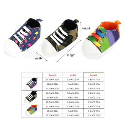 Infant Newborn Baby Boy Girl Soft Sole Canvas Pram Shoes Trainers 0-18 Months