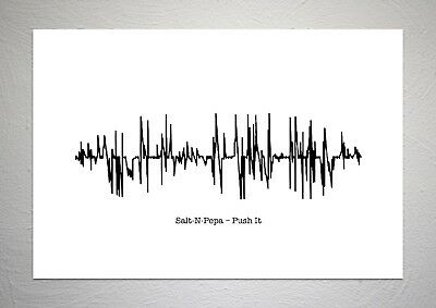 Salt-N-Pepa – Push It - Sound Wave Song Art Print - A4 Size