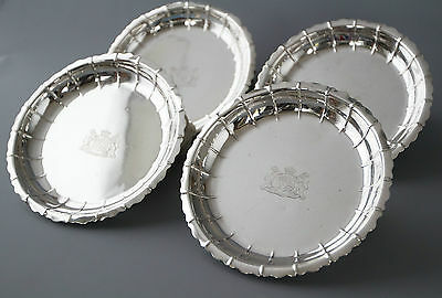 A RARE SET of SILVER STRAWBERRY or SALAD DISHES LONDON 1835 by ROBERT GARRARD II