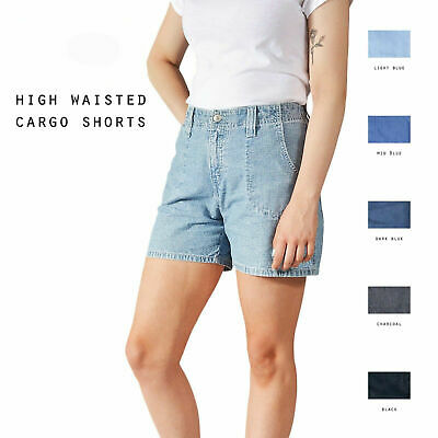 Grade A Levis Vintage Womens High Waisted Cargo Shorts Size 6 8 10 12 14 16