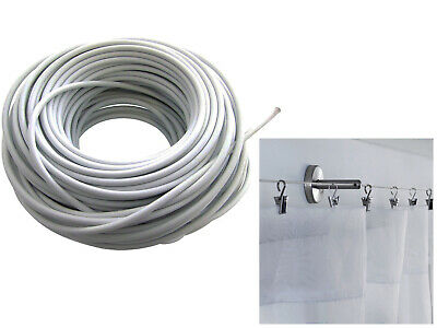 New 30m High Quality Net Curtain Wire Window Hanging Flexible Cable (100FT).