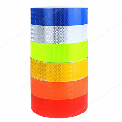 30CM/3M/5M Cars Reflective Safety Warning Conspicuity Tape Film Sticker 7 Color
