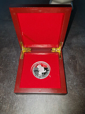 Rare! Silver Plated Walt Disney The First Euro of Uncle Scrooge LE Coin in Box
