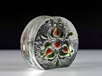 WALTHER GLAS 60-70s West German Vintage Retro Abstract Solifleur Stem Glass Vase