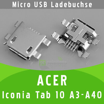 Acer Iconia Tab 10 A3-A40 Micro USB DC Buchse Ladebuchse Strombuchse Anschluss