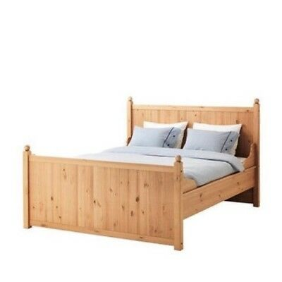 Solid Wood Pine King Size Bed Frame Ikea Hurdal Rrp 270 Excellent Condition